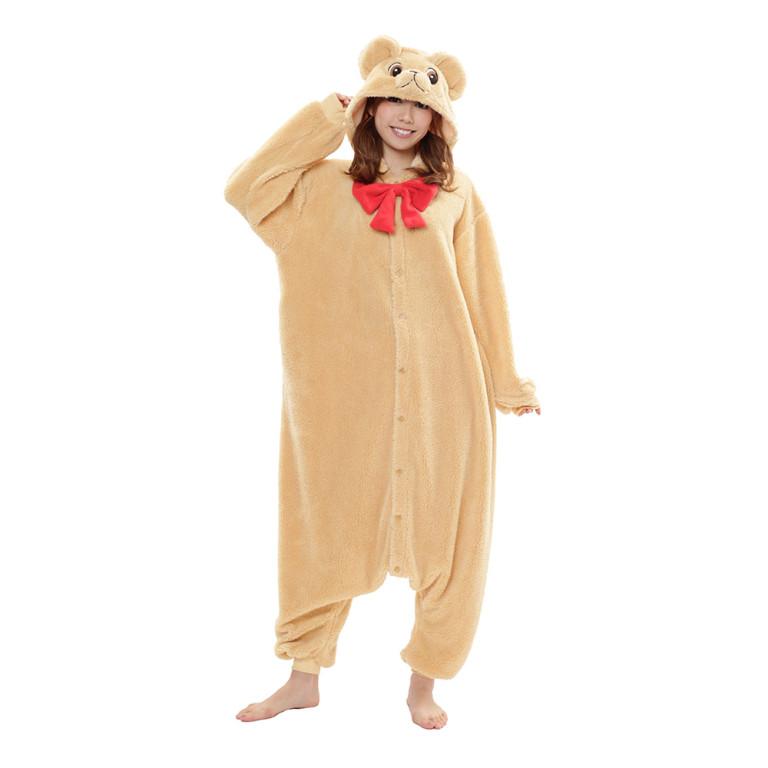 Beige Teddybjörndräkt